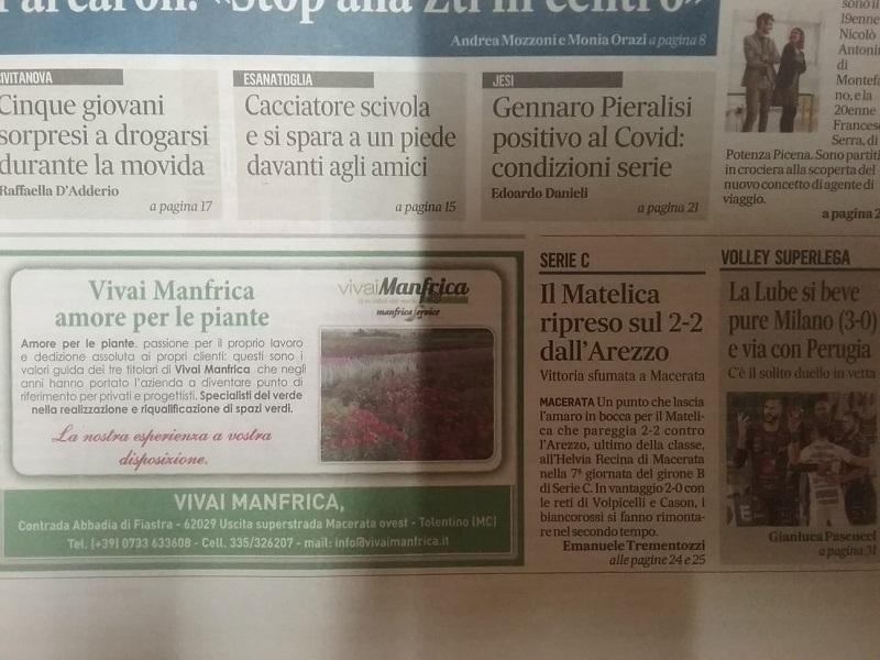 Matelica-Arezzo sul Corriere Adriatico